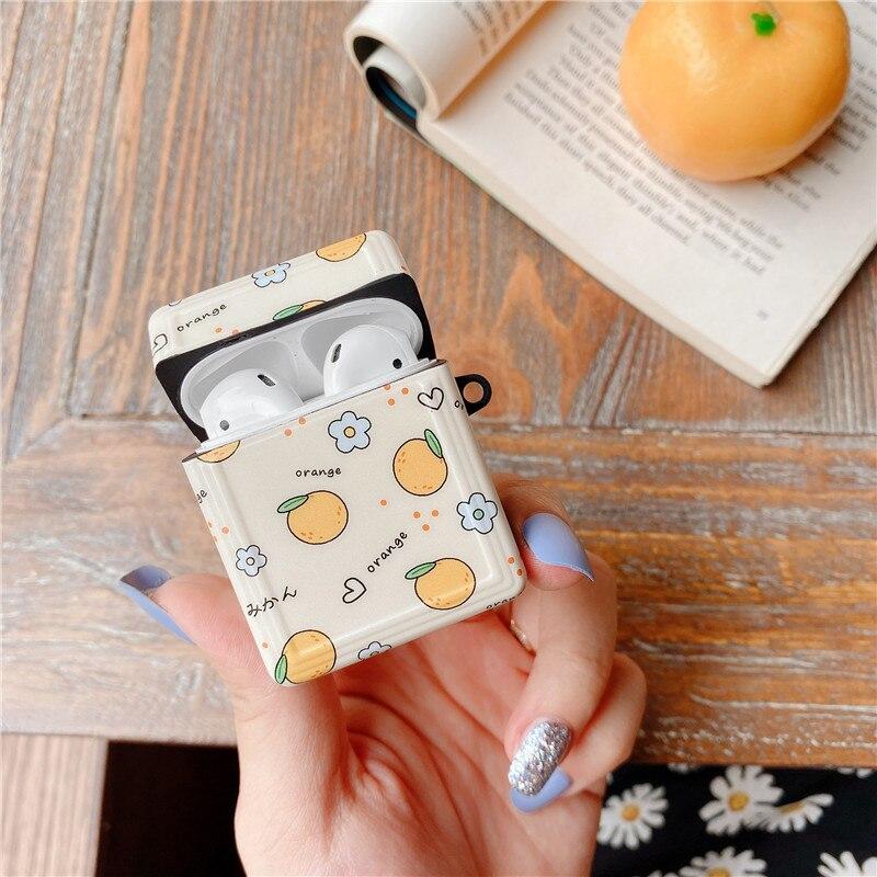 Купить милый оранжевый мягкий чехол для apple airpods pro s силиконовый