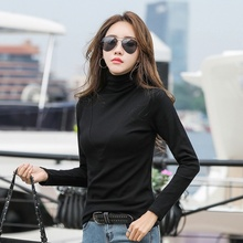 Women Casual T Shirt Turtleneck Long Sleeve T-shirt Shirts Autumn Top Harajuku