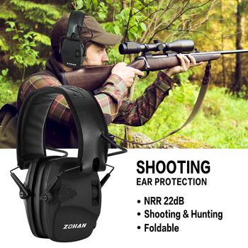 ZOHAN Tactical headphones Ear Protection Shooting Electronic Earmuffs soundproof Hearing Noise Reduction for Hunting NRR22db 2