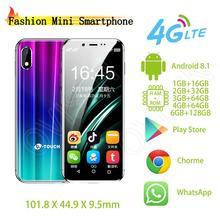 Карманный мини мобильный телефон K-touch i9 Android 8,1 металлическая рамка 3,46 дюймов celular wifi точка доступа для лица ID Google Play Store