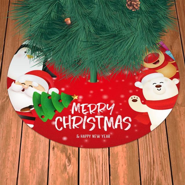 90cm Santa Claus Christmas Tree Decor White Christmas Tree Skirt Fur Skirt for Xmas Decorations Christmas Xmas Tree Decor 2