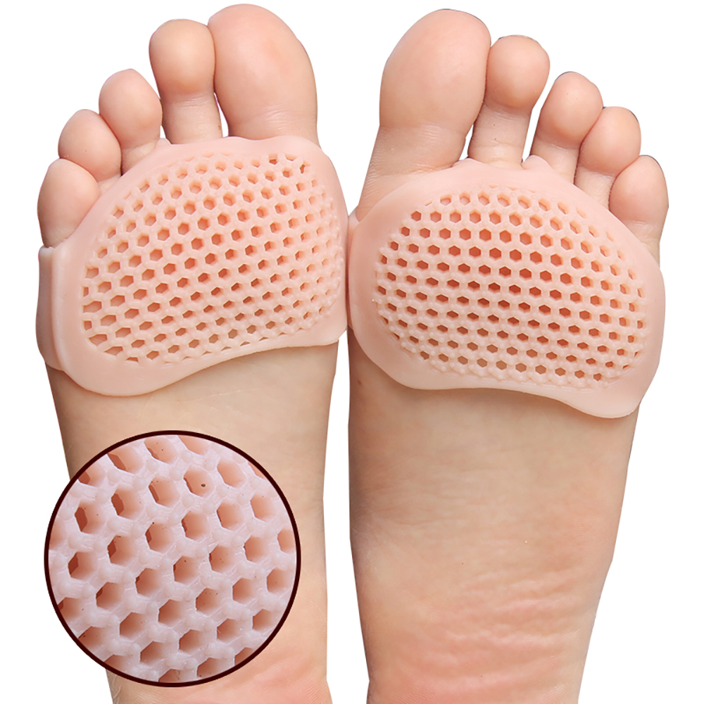 USHINE High Heel Pad Silicone Gel Forefoot Pads Breathable Soft Feet Care Protector Elastic Pain Relief Insole Yoga Ballet Shoes