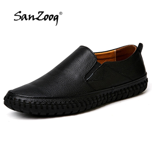 Image 1 - Genuine Leather Casual Slip On Mens Moccasins Men Shoes Loafers Mocassin Homme Footwear Man Topsiders High Quality Plus Size
