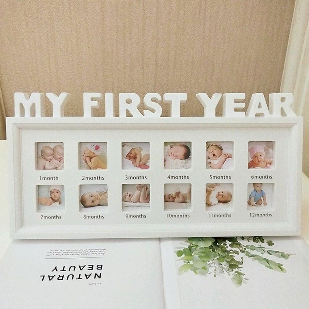 12 месяцев Детские Настольные девочки мальчики Новорожденные дети домашний декор украшения изображение дисплей мой первый год ПВХ