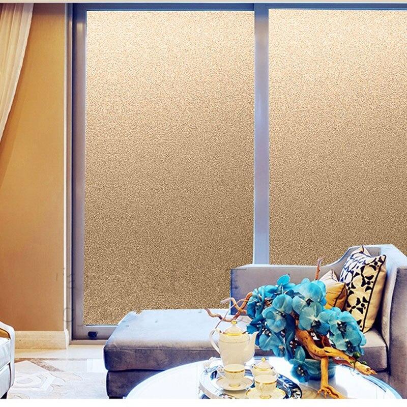 Без клея матовая Золотая матовая декоративная пленка на окно наклейка тонированное стекло матовый, непрозрачный кухонный магазин офисный домашний декор|Декоративные пленки|   | АлиЭкспресс