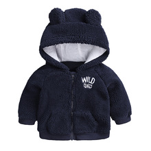 Newborn Baby Clothes Autumn Winter Cute Warm Hooded Coat for 3-18M Toddler Baby Boy Girls Cartoon Bear Outerwear Kids Clothing cheap NoEnName_Null Active Sets Pullover D001 COTTON Polyester Unisex Full REGULAR Fits true to size take your normal size Children