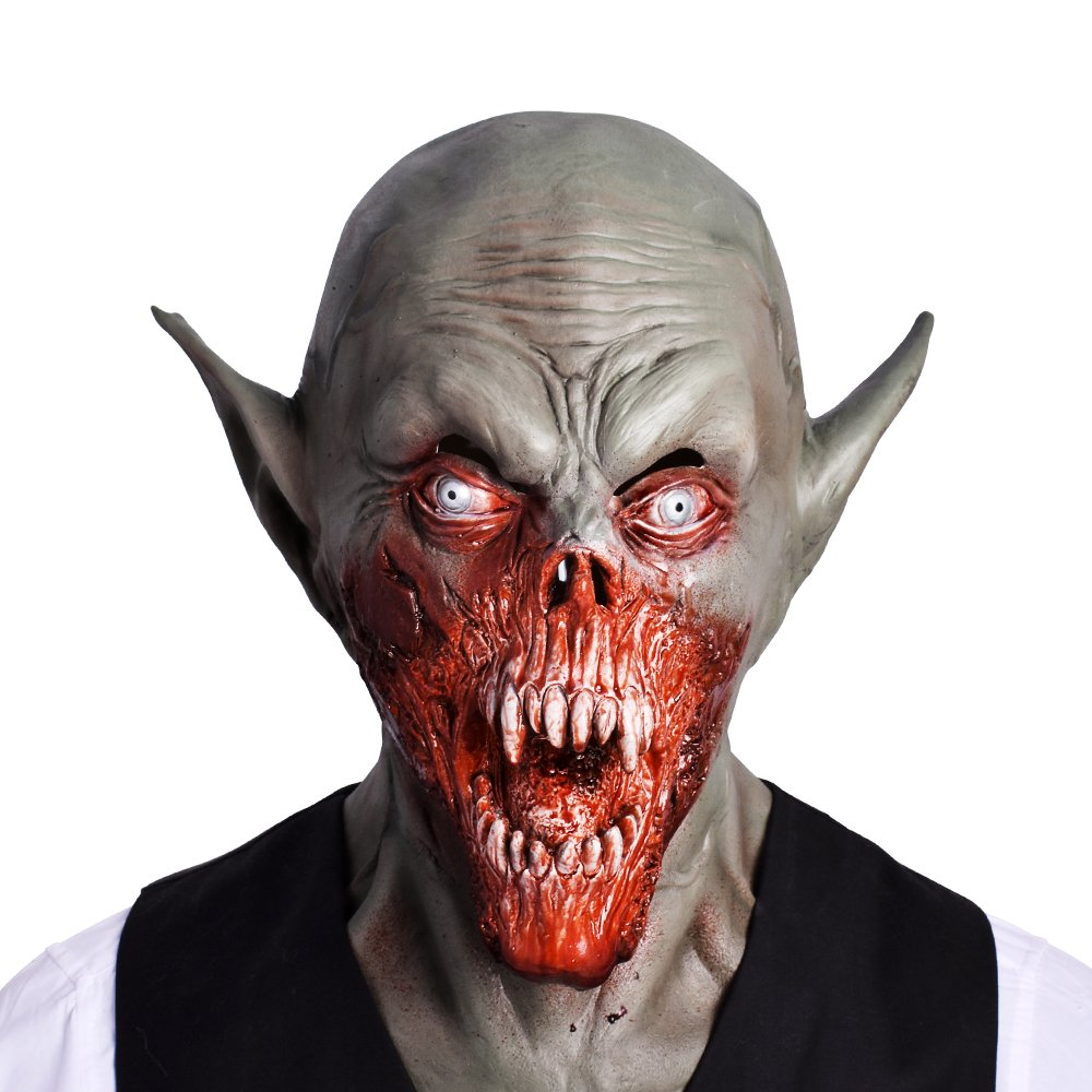 Masquerade Party Costume Zombie Demon Latex Scary Vampire Skull Mask Horror Cosplay Realistic Airsoft Props 2019