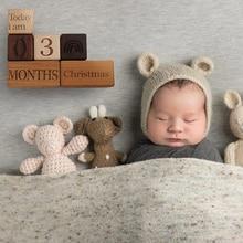 Let's Make Wooden Baby Milestone Blocks Age Card Photo Accessories Keepsake Newborn Birth Gift Souvenir Photography Props Tool