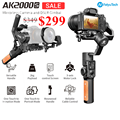 FeiyuTech Feiyu AK2000S DSLR Camera Stabilizer 3 axis Handheld Gimbal Video Estabilizador for Sony Canon 5D Panasonic GH5 Nikon