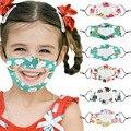 Детская прозрачная маска для рта, Детские маски для лица, дышащие Многоразовые моющиеся регулируемые маски, аксессуары для рождественской ...