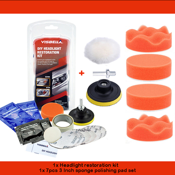 Car Headlight Restoration Polishing Kits Multipurpose Headlamp Lens Repair for Auto Motorcycle Improving Visibility And Security 7