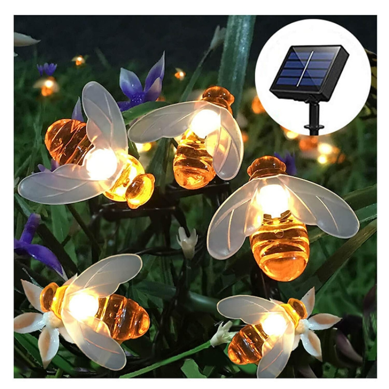 Bee Solar Led Light String Bubble Crystal Ball Lamp Holiday Decoration Light