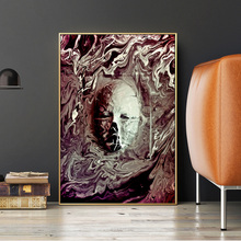 Abstract Flowing Water Face Oil Painting On Canvas Posters And Prints Wall Art Picture Home Decor Cuadros For Living Room