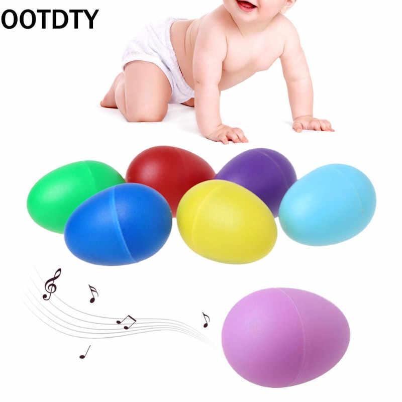 Ootdty Plastik Pasir Telur Perkusi Alat Musik Awal Pendidikan Mainan Anak