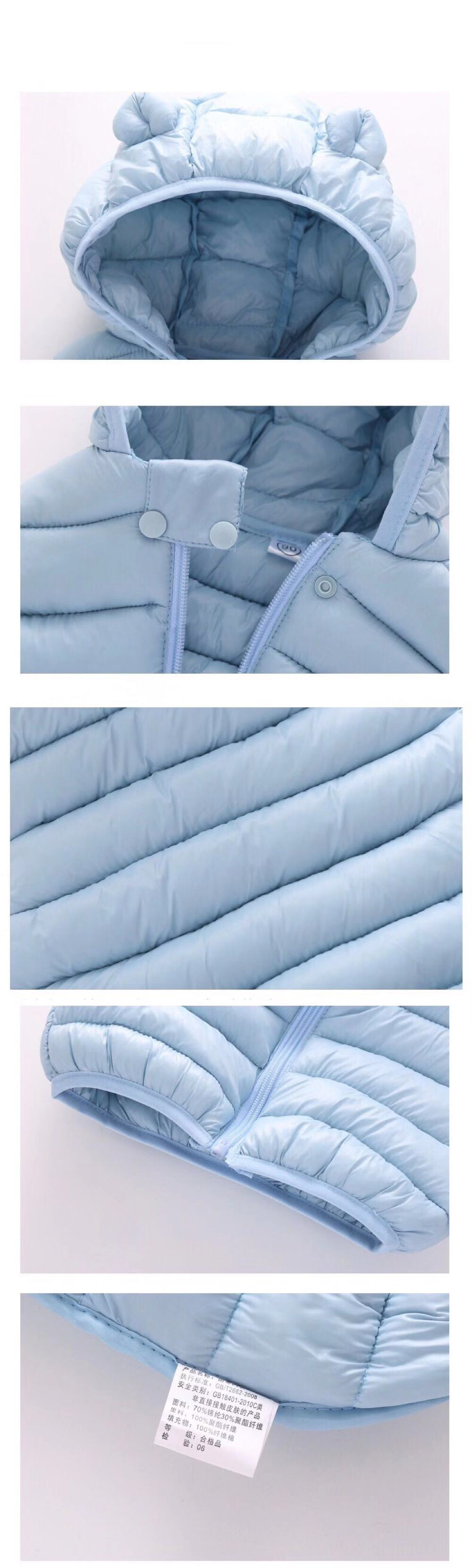 Одежда для маленьких девочек; зимнее Детское пальто; светильник с капюшоном; однотонная хлопковая верхняя одежда; жилет для малышей; одежда для маленьких мальчиков