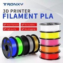 Tronxy mais longa precisão dimensional do filamento da impressora do pla 3d +/- 0.05mm 1 kg carretel 1.75mm