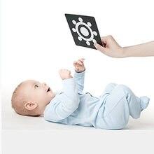 Juguetes Montessori para bebés, tarjetas Flash en blanco y negro, estimulación Visual de alto contraste, Flashcards de actividades de aprendizaje, regalos para bebés C0642H