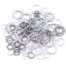 Anneaux de saut soudés en alliage de Zinc 4-30mm, 12 Styles d'anneau fermé, connecteurs de cercle rond pour la fabrication de bijoux à faire soi-même