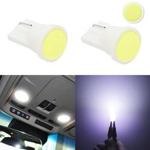 цена на 1PC T10  Car Interior COB SMD Car LED W5W 168 12V Wedge LED Side Plate License Decoration Light Bulb DoorTrunkFoot lamp Bulb