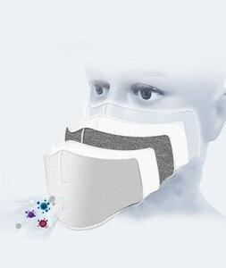 Image 5 - 20 PCS מסנן אופנה רחיץ לשימוש חוזר מסכת אנטי זיהום הפה Respirator אבק מסכות כותנה יוניסקס פה מופל שחור