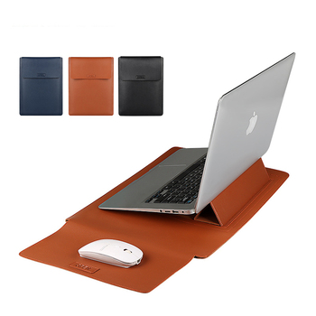 71011 6121313 314 1515 415 61717 317 4notebook laptop sleeve bags neoprene soft handdle laptop tablet pc case bag Soft PU Leather Laptop Sleeve Stand Cover For Macbook Air Pro 13.3 14 15.6 inch Laptop Bag Notebook Tablet Case For Xiaomi DELL