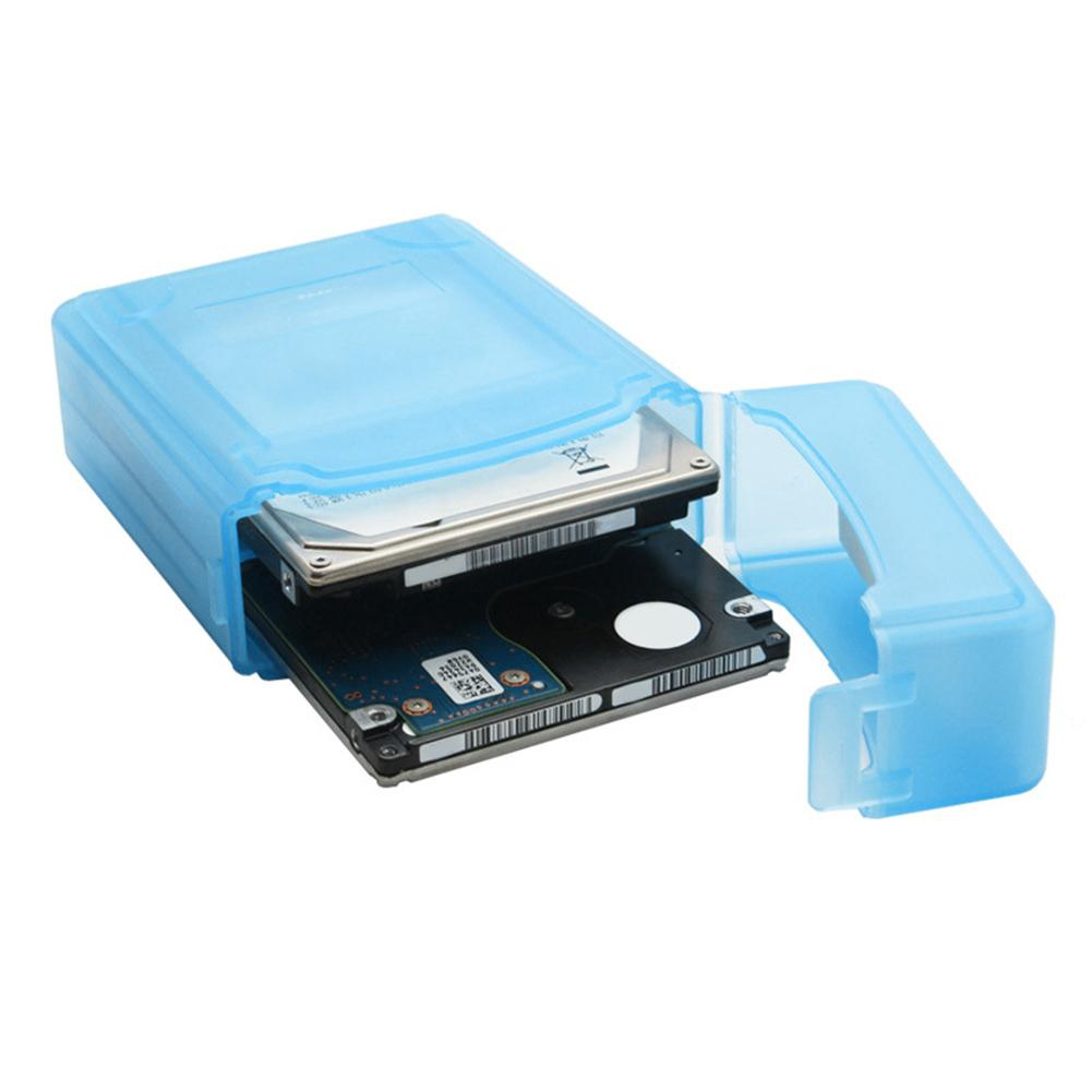 Blue Color Hard Disk Cover Protective PP Carry Case Storage Box Dustproof Bag For 3.5inch Mobile HDD SSD Hard Drive