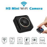 H5 Mini Wifi Camera Magnetic Body Cam Night Vision Wide Angle Motion Sensor HD Video Recorder P2P Micro Cam Support Hidden TF Ca