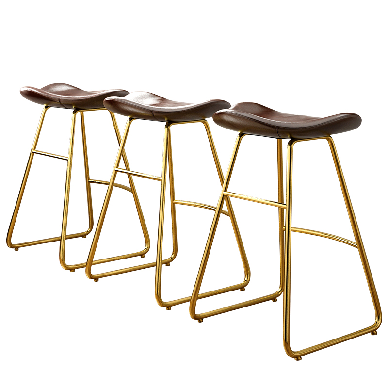 Net Red Bar Stool Nordic Designer Personalized  Chair Retro High  Light Luxury Coffee Shop Front Desk