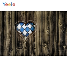 Yeele Oktoberfest Party Photocall Grunge Wood Heart Photography Backdrops Personalized Photographic Backgrounds For Photo Studio