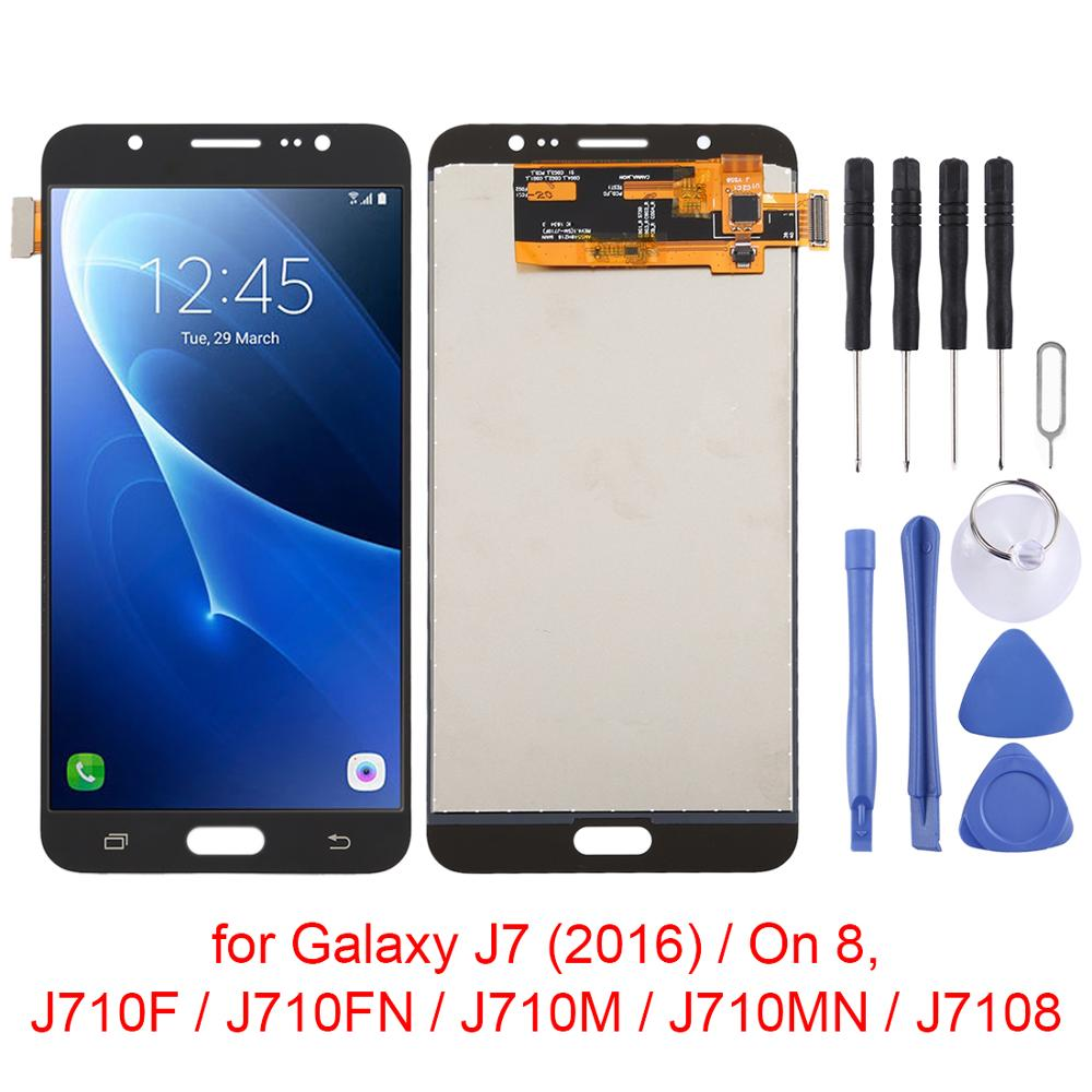 LCD Screen For Samsung Galaxy J7(2016)/On 8,J710F/J710FN/J710M/J710MN/J7108 Display LCD Screen+Digitizer Full Assembly Module