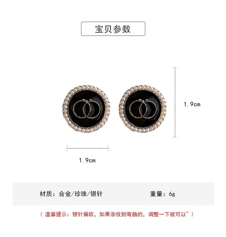 New Design Fashion Charm Crystal Stud Earrings Geometric Round Circle Shiny Rhinestone Big Earring Jewelry Women Gift
