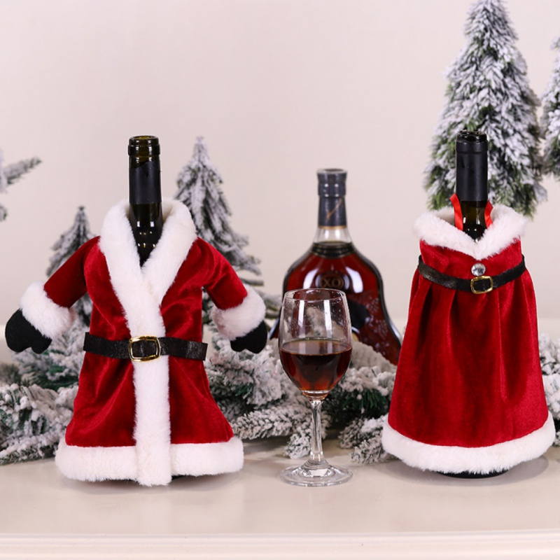Christmas Red Wine Set Bottle Decoration Creative Bag Dress Skirt