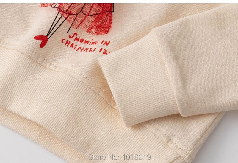 Infant Girls Tops Fleeces Sweatshirt 100% Terry Cotton Sweater Children t shirt Kids Hoodies Blouses Baby Girl Clothes Tee Mouse 4