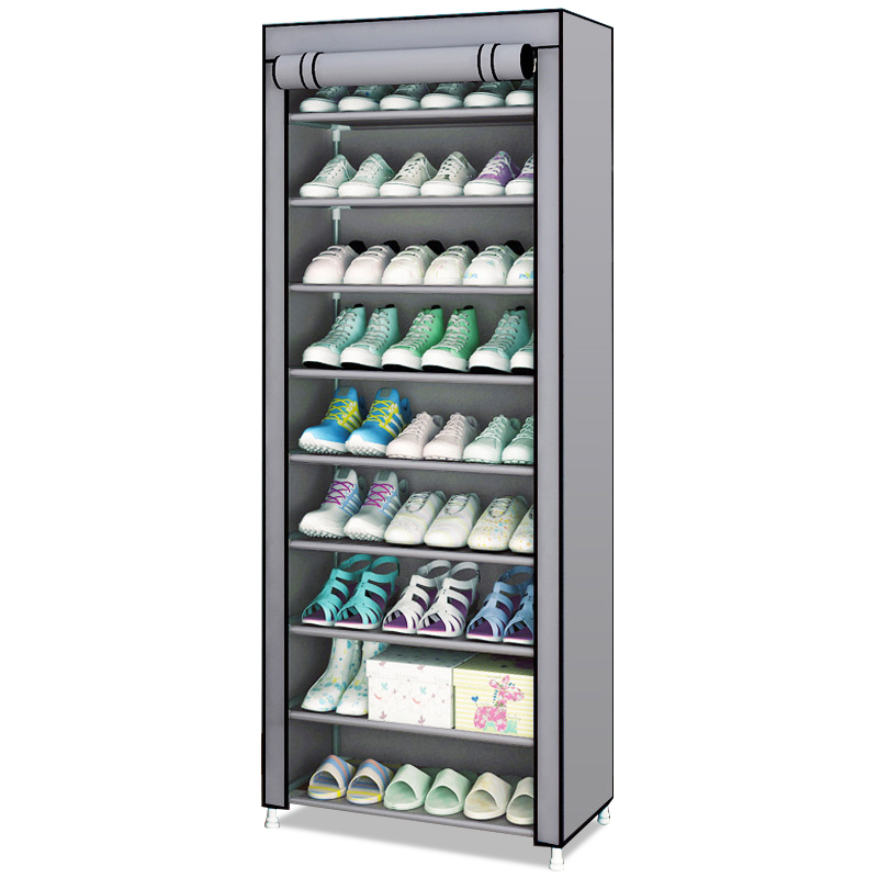 Organizer Shoe-Shelf Home-Dorm Assembled Enteryway Simple Nonwoven Neat Dusproof Keep-Room