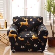 Capa de poltrona elástica capa de sofá de algodão estiramento capas de sofá para sala de estar copriivano slipcover para único sofá capa
