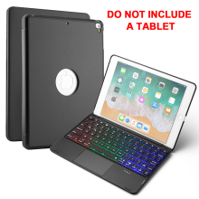7 Colors Backlit Keyboard Case For 2018 2017 New iPad 9.7 Pro Air 1 2 Tablet with USA