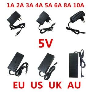 Image 1 - Convertisseur dalimentation électrique, 1 pièce AC 100V 240V vers cc 5 V, 1a, 2a, 3a, 5a, 6a, 8a, 10a, convertisseur dalimentation 5 V, pour éclairage bande LED