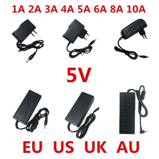 Convertisseur dalimentation électrique, 1 pièce AC 100V 240V vers cc 5 V, 1a, 2a, 3a, 5a, 6a, 8a, 10a, convertisseur dalimentation 5 V, pour éclairage bande LED