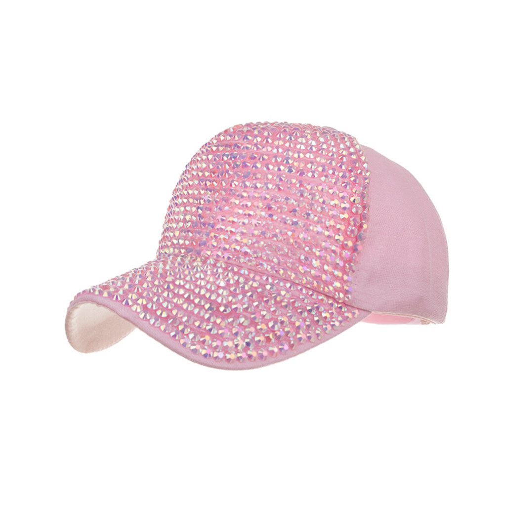 Men Women Baseball Caps Fashion Adjustable Cotton Cap Star Rhinestone Cap Outdoor Sun Hat Adjustable Sports caps in summer#T2 5