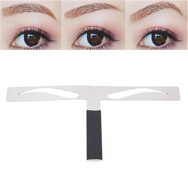 High Quality Alloy Eyebrow Stencils Shaping Grooming Reusable Design Eyebrows Styling Tool Eye Brow Make Up Model Template 1PC