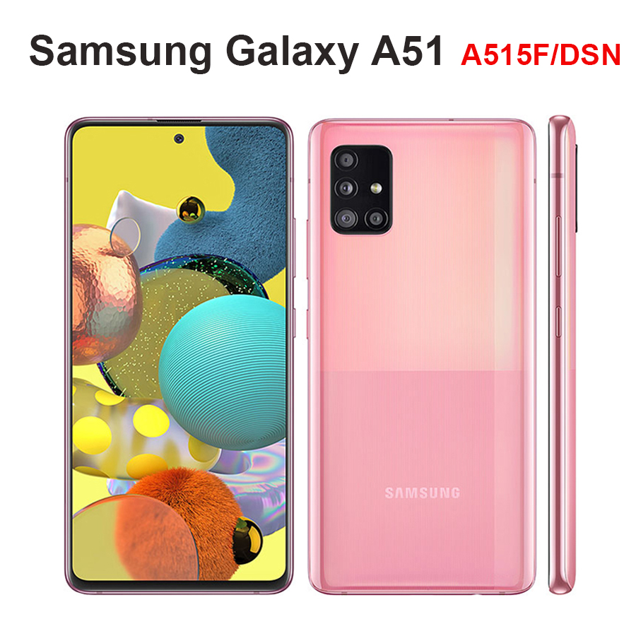 "2020 Original Samsung Galaxy A51 A515F/DSN Mobile Phone 6GB RAM 128GB ROM Octa Core 6.5""1080x2400 4000mAh 4Camera NFC Android10