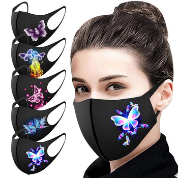 Pretty Butterfly Mask Adult Fashion Washable Reusable Pollution Cover Face Masks Multiple Proteccion Winter Turban Mascarillas image