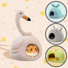 Pet Bed Hamster Nest Hedgehog Winter Warm Nest Mouse Cotton House Warm Cage Cave Bed Cute Pet Nest For Small Animals