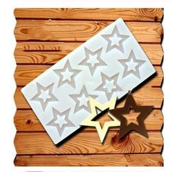 Diy 3d forma de estrela molde de silicone ferramentas de decoração do bolo cupcake molde de silicone molde de chocolate decoração muffin pan cozimento estêncil