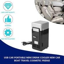 2021 abs 194*90*90mm economia de energia e eco-friendly 5v 10w usb carro portátil mini refrigerador de bebida carro barco viagem geladeira cosmética
