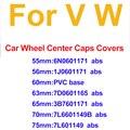 Синий/черный 75 мм 70 мм 65 63 мм 60 мм 56 мм/55 мм/Автомобильные обода крышки Центральная втулка колеса автомобиля крышки для Passat B6 B7 CC MK5 MK6 Tiguan