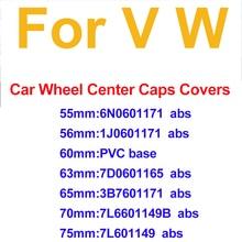 Center-Hub-Caps Tiguan 63mm 55mm Car-Rims-Covers Passat B6 Blue/black for B7 CC MK5 MK6