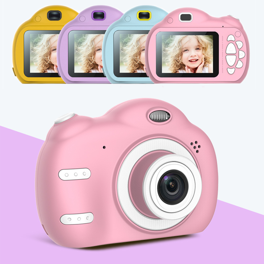 Kids Digital Camera Toys 2.4 Inch HD Screen 20 Languages Birthday Gifts 32G Supported Chargable Photography Children Mini Camera