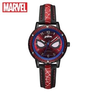 Марвел, Мстители, Человек-паук, Супергерой, детство, мечта детей, японские кварцевые часы, PU ремешок, водонепроницаемые часы, Дисней, детские часы