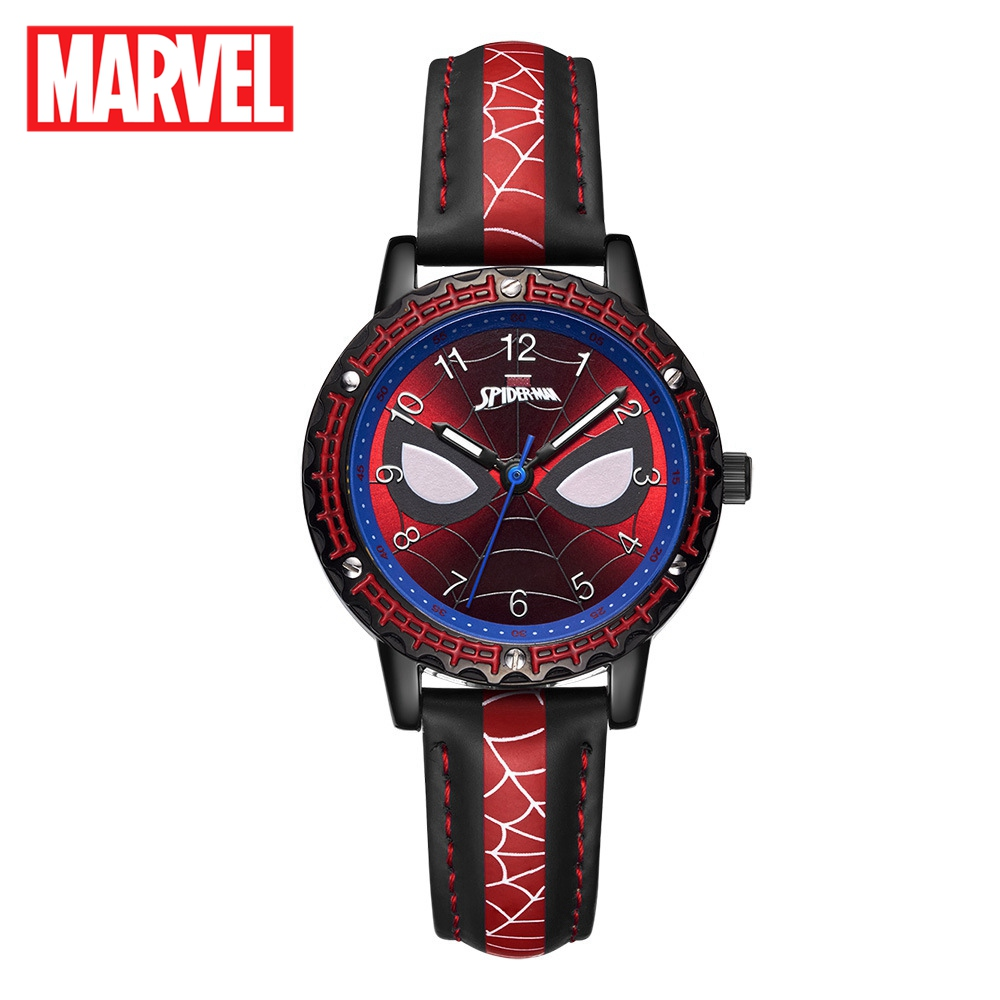 MARVEL Avengers Spider-Men Super Hero Childhood Dream Children Japan Quartz Watch PU Band Waterproof Watches Disney Kid Watch